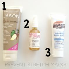3 Products to prevent stretch marks