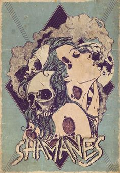 'Of life and death' a póster I made for a local band named 'Shamanes'  more at: http://facebook.com/mr.mooree