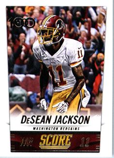 2014 Score Football Card  282 DeSean Jackson - Washington Redskins at  Amazon s Sports Collectibles Store d8ff89886