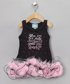Take a look at this Black 'Until You Sparkle' Tutu Dress - Infant, Toddler & Girls by Born 4 Couture on #zulily.