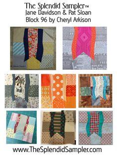 Designer: Cheryl Arkison Techniques : Appliqueand Piecing Blocks by Designers (L to R, Top to Bottom) Cheryl Arkison,Katja Marek,Lynette Anderson,Melissa Corry,Joan Ford,Jane Davidson,Mel…