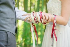 A sweet hand-fasting ceremony in the woods! Wedding Couples, Wedding Bride, Wedding Ceremony, Wedding Blessing, Bride Groom, Forest Wedding, Woodland Wedding, Hand Fastening Ceremony, Wedding Colors
