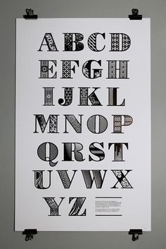 Decorative Bodoni. Flipping gorgeous. Letter press art work is a huge trend for 2013.