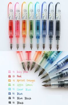 Excellent simple ideas for your inspiration Cool School Supplies, Stationary School, Cute Pens, Calligraphy Pens, Cute Stationery, Too Cool For School, Brush Pen, Gel Pens, Art Supplies