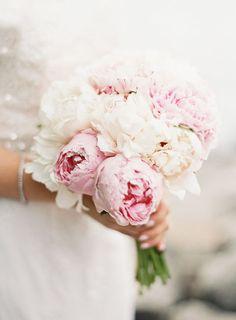 Beautiful Bountiful Wedding Bouquets with Peonies - Judy Pak Photography