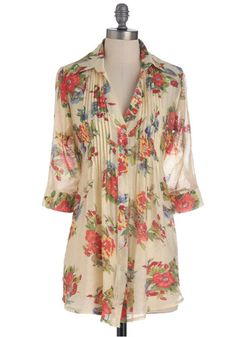 Go with the Floral Top, #ModCloth