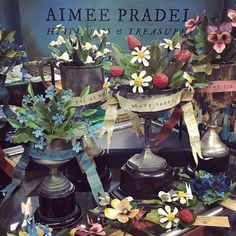 These divine treasures beautifully handmade by @aimeepradel just arrived. Exquisite heirloom decorative pieces & broaches.......Aimee's sense of whimsy and colour is so perfect! #luccellomelbourne #aimeepradel #handmade #artisan #beautywhimsy #heirlooms