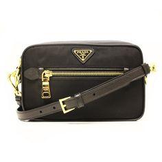 Prada Black Tessuto Crossbody Bag BT0715 | Prada, Bags and Black