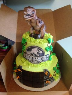 Jurassic World Cake by A Dash of That. www.facebook.com/adashofthatcakery