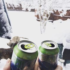Crack open that IPA survival kit because this storm is officially here. #IPA #jonas #snow #winter #craftcans