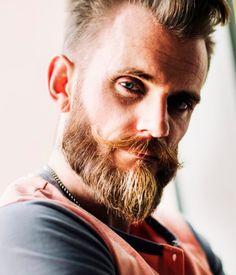 full verdi beard with handlebar moustache