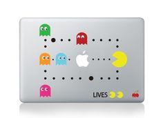 Pac Man Macbook Decals