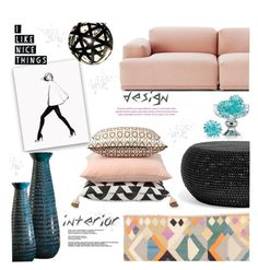 """""""Geometrics, Textures, & Softness"""" by stacey-lynne ❤ liked on Polyvore featuring interior, interiors, interior design, home, home decor, interior decorating, Global Views, Muuto and Wildfox"""