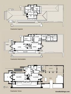 (1908-1910) Robie House - Frank Lloyd Wright [Chicago, IL]