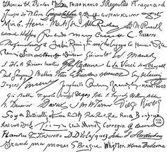 Painters' signatures