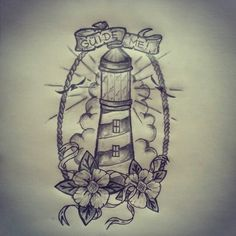 lighthouse rose tattoo - Google Search