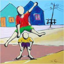Ivan Cruz, artista plástico, nasceu em 1947 nos subúrbios do Rio de Janeiro, e brincava pelas ruas de seu bairro como toda criança… Apesar de amante da Arte, enveredou-se pelo caminho do Dire… Ivan Cruz, Van Gog, Crochet Cable Stitch, Art N Craft, Photo Booth Props, Indian Art, Easy Drawings, Disney Characters, Fictional Characters