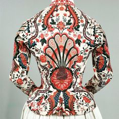Jacket dating to c1810-20 but made from 18thc printed cotton @rijksmuseum. Kate Strasdin (@kateStrasdin) | Twitter