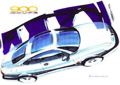 Saab 900 Coupe Sketch