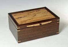 Peruvian Walnut Jewelry Box with Spalted Maple Lid