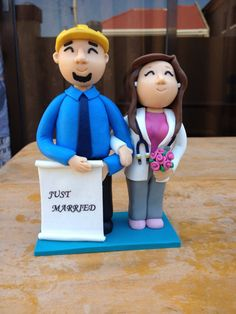 Why eat the topper when you can keep them Forever by Bitstopieces, When You Can, Just Married, Wedding Cake Toppers, Birthdays, Canning, Eat, Handmade Gifts, Anniversaries, Kid Craft Gifts
