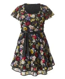 "Ax Paris Black Floral Multi Dress I always think that this kind of dress is so pretty, but when I try it on, it doesn't quite seem like ""me""."