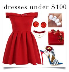 """Untitled #248"" by dreah-darling ❤ liked on Polyvore featuring Nancy Gonzalez, Chi Chi, Dsquared2, Charlotte Russe and under100"