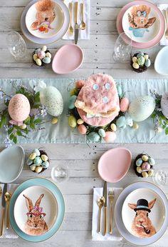Pastel tablescape for that Easter brunch!