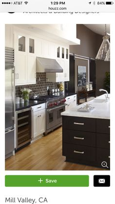 Kitchen Photos Historic White Kitchen Design, Pictures, Remodel, Decor and Ideas - page 27 Beautiful Kitchens, Cool Kitchens, White Kitchens, Black Cabinets, Kitchen Cabinets, Shaker Cabinets, Espresso Cabinets, Shaker Doors, Upper Cabinets
