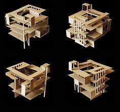 Concept Architecture, Modern Architecture, 3d Modelle, Arch Model, Cube Design, Diy Arts And Crafts, Design Model, Building Design, Planer
