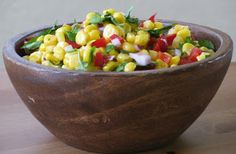 Farm Stand Salsa - one of my favorite summer sides.  The original recipe calls for 2 ears FRESH sweet corn, cut off the cob and is credited to Tyler Florence.  Pinned this recipe b/c of the picture.