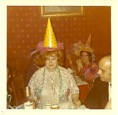 And after her third VERY dirty martini, Inez agreed to wear the birthday hat.