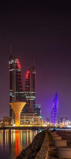 Manama night sky, Bahrain