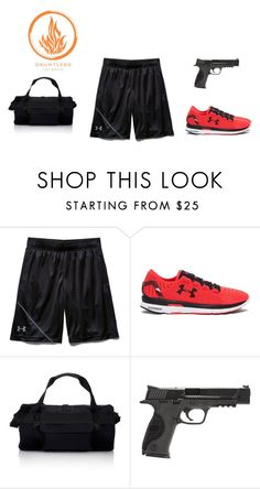 """""""Dauntless Gym"""" by hiltzerin-1 on Polyvore featuring Under Armour, Y-3, Smith & Wesson, men's fashion and menswear"""