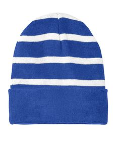 ca154823795138 Striped Beanie with Solid Band. Vivid ColorsPlushWinter ...