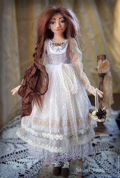 Купить Лидия. Текстильная кукла. Авторская интерьерная кукла - голубой, бохо, авторская кукла