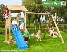 Klettergerüste Für Den Garten : Jungle house shown with swing module garten