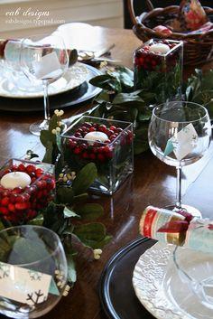 Christmas Table Setting by eab designs, via Flickr