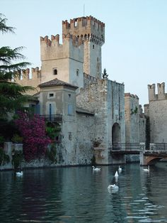 Scaliger's Castle is a restored 13th century structure in Sirmione (on Round Lake Garda)