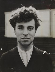 Charlie Chaplin out of costume, 1916