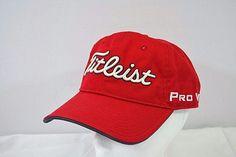 6cad22d6989 Titleist Golf Pro Vl FJ Red Baseball Cap Buckle Strap  Titleist   BaseballCap Hat Day