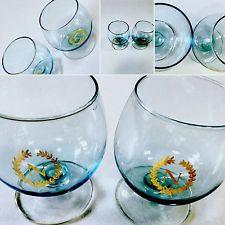 Bicchieri 2 calici Napoleon Brandy Cognac in cristallo Blu vintage anni '50���� | eBay
