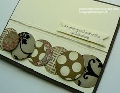 Love the thin twine between the embossed lines - Stampin' Up galleries, card idea, paper craft, papercraft, cleanses, twine, craft idea, mornings, mocha morn