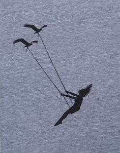 Womens flying bird swing- scoop track t shirt - image #2655886 by ...