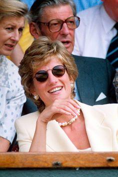 Princess Diana's Wimbledon style through the years   Tatler Diana Fashion, Princesa Diana, Princess Of Wales, Wimbledon, Style Inspiration, Sunglasses, Couple Photos, Enjoying Life, Woman