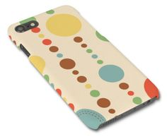 Retro Circles Pattern Illustrated iPhone 5/6/7 Samsung S3/S4/S5/S6 graphic glossy mobile phone case