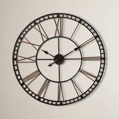 Trent Austin Design Oversized Methuen Wall Clock Finish: Black and Gold Dining Room Colour Schemes, Big Wall Clocks, Clock Wall, Wall Art, Oversized Clocks, Rooms To Let, Wooden Console Table, Home Design Diy, House Design