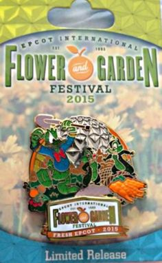 Disney 2015 Epcot Flower & Garden Festival LE Pin - Donald Duck with Chip, Dale