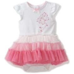 Little Me Baby-Girls Newborn Fun Butterfly Tutu Popover ($22) ❤ liked on Polyvore