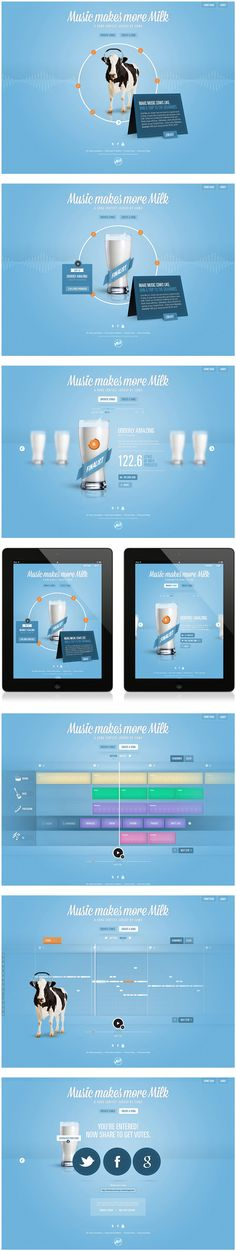 Cool Web Design on the Internet, Music Makes More Milk. #webdesign #webdevelopment #website @ http://www.pinterest.com/alfredchong/web-design/